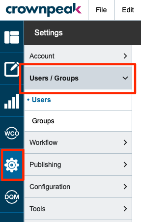 Users & Groups Settings