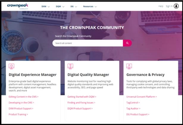 The Crownpeak Community
