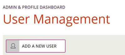 DQM New user button