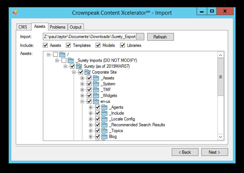 content-xcelerator-import-assets